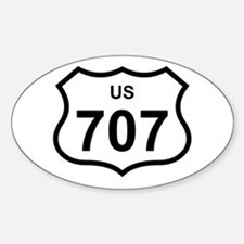 US 707 Oval Decal