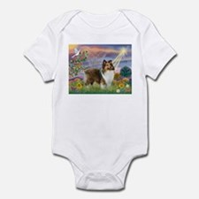 Cloud Angel & Sheltie Infant Bodysuit