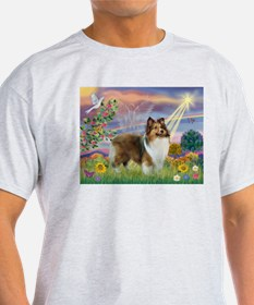 Cloud Angel & Sheltie T-Shirt