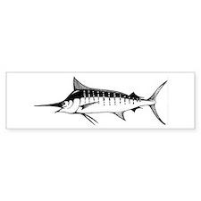 Blue Marlin Bumper Bumper Sticker