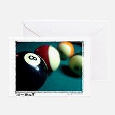 """8-Ball"" Greeting Card"