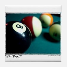 """8-Ball"" Tile Coaster"