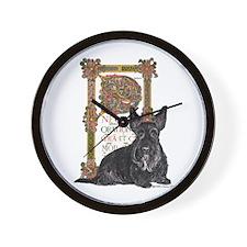 Celtic Dog Scottish Terrier Wall Clock