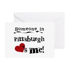 Pittsburgh Loves Me Greeting Card