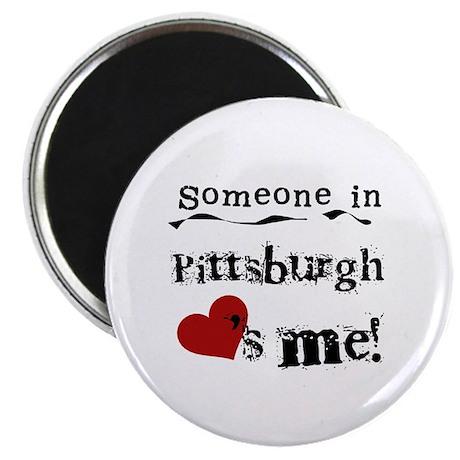 Pittsburgh Loves Me Magnet