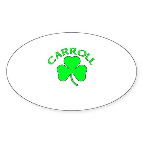 Carroll Oval Sticker