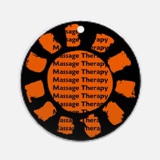Massage Therapy Ornament (Round)