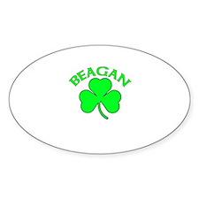 Beagan Oval Decal
