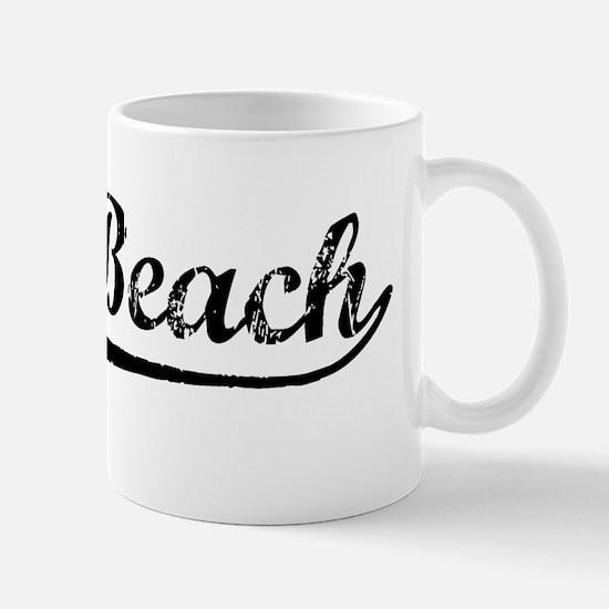 Vintage Seal Beach (Black) Mug