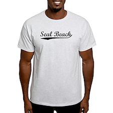 Vintage Seal Beach (Black) T-Shirt