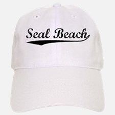 Vintage Seal Beach (Black) Baseball Baseball Cap