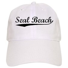 Vintage Seal Beach (Black) Baseball Cap