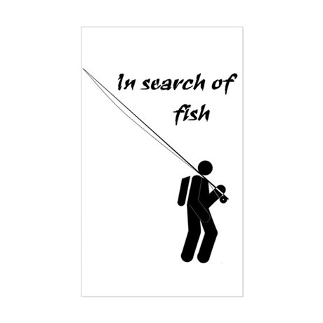"""In Search Of Fish"" Rectangle Sticker"