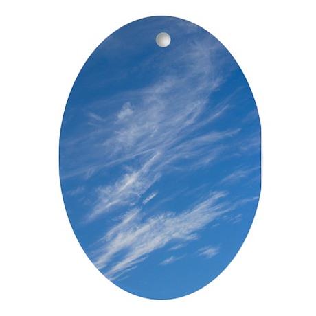 Cirrus Clouds Oval Ornament