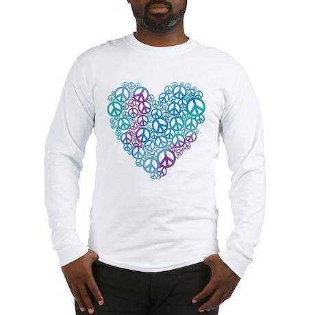 Peace Symbols Heart Long Sleeve T-Shirt