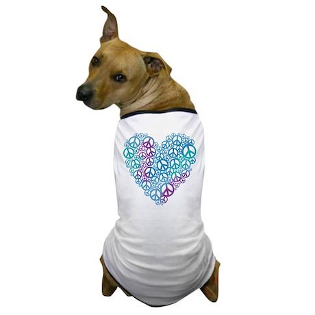 Peace Symbols Heart Dog T-Shirt