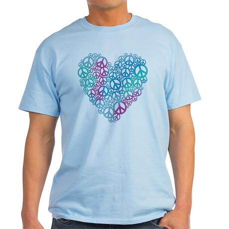 Peace Symbols Heart Light T-Shirt