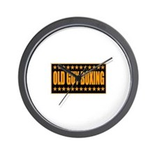 Old Guy Boxing Wall Clock