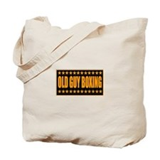 Old Guy Boxing Tote Bag