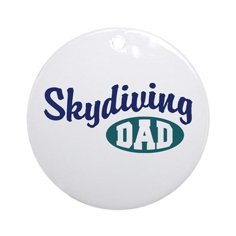 Skydiving Dad Ornament (Round)