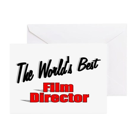 """""""The World's Best Film Director"""" Greeting Cards (P"""