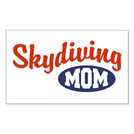Skydiving Mom Rectangle Sticker