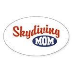 Skydiving Mom Oval Sticker