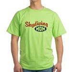 Skydiving Mom Green T-Shirt