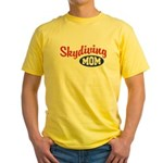 Skydiving Mom Yellow T-Shirt