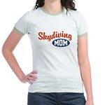 Skydiving Mom Jr. Ringer T-Shirt