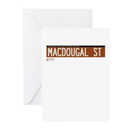Macdougal Street in NY Greeting Cards (Pk of 10)