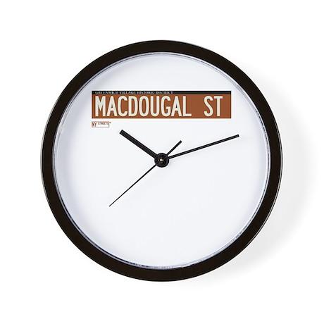 Macdougal Street in NY Wall Clock