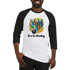 B is for Bowling Baseball Jersey
