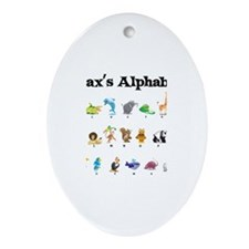 Max's Animal Alphabet Oval Ornament