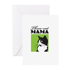 Three-Cat Mama Greeting Cards (Pk of 20)