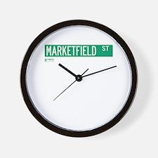 Marketfield Street in NY Wall Clock