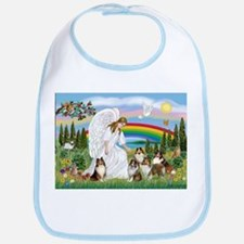 Angel & Five Shelties Bib