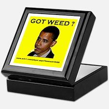 GOT WEED OBAMA Keepsake Box