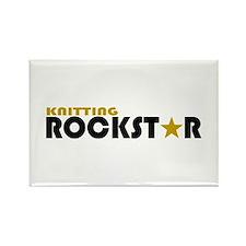 Knitting Rockstar 2 Rectangle Magnet