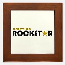 Knitting Rockstar 2 Framed Tile