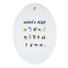 Nathaniel's Animal Alphabet Oval Ornament