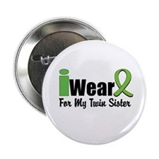 """Lime Twin Sister 2.25"""" Button (10 pack)"""