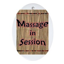 Massage in Session Oval Ornament