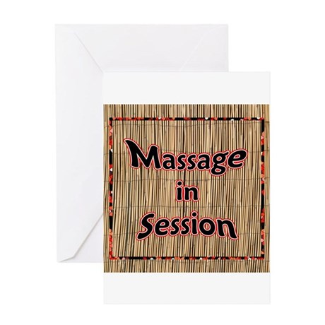 Massage in Session Greeting Card