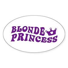 Blonde Princess Oval Decal