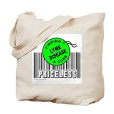 LYME DISEASE FINDING A CURE Tote Bag