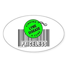 LYME DISEASE FINDING A CURE Oval Decal