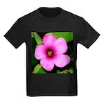 Glorious Violet Wood Sorrel Kids Dark T-Shirt