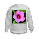 Glorious Violet Wood Sorrel Kids Sweatshirt