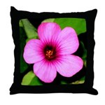 Glorious Violet Wood Sorrel Throw Pillow